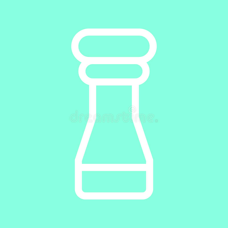 Salt and pepper shaker icon in trendy flat style isolated on grey background. Kitchen symbol for your design, logo, UI. Vector ill royalty free illustration