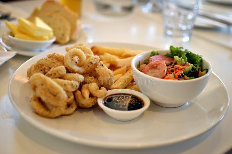Salt and pepper squid stock photos