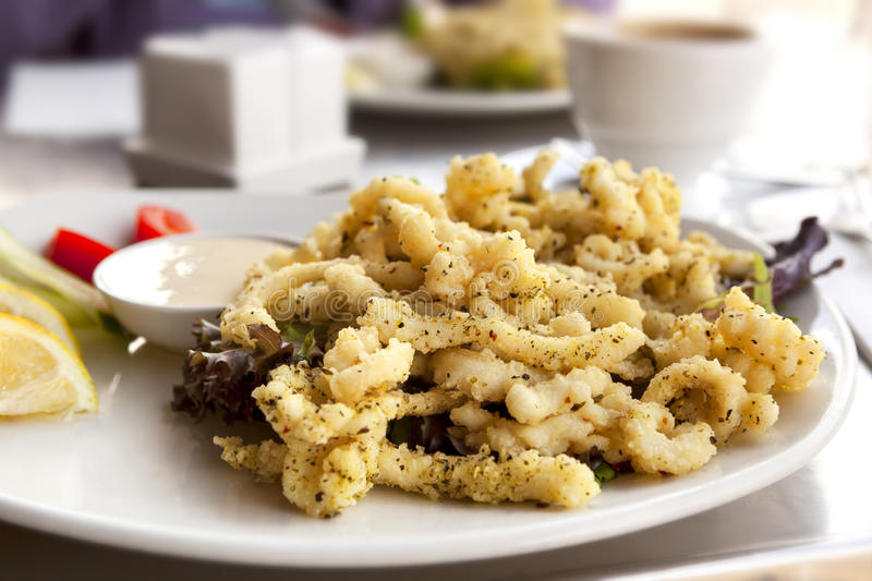 Download Salt and Pepper Squid stock photo. Image of pepper, salad - 30313738
