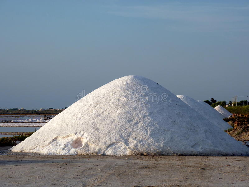 Download Salt piles stock image. Image of saltworks, marsala, trapani - 18120467