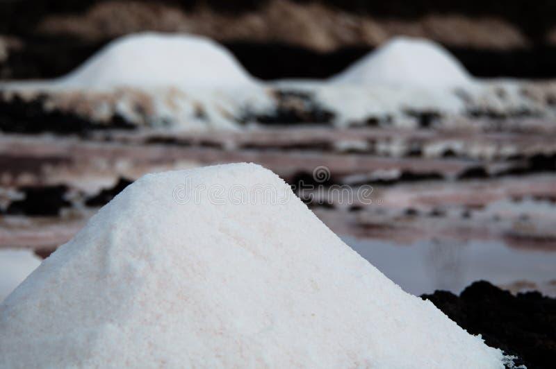Salt Piles On A Saline stock photo