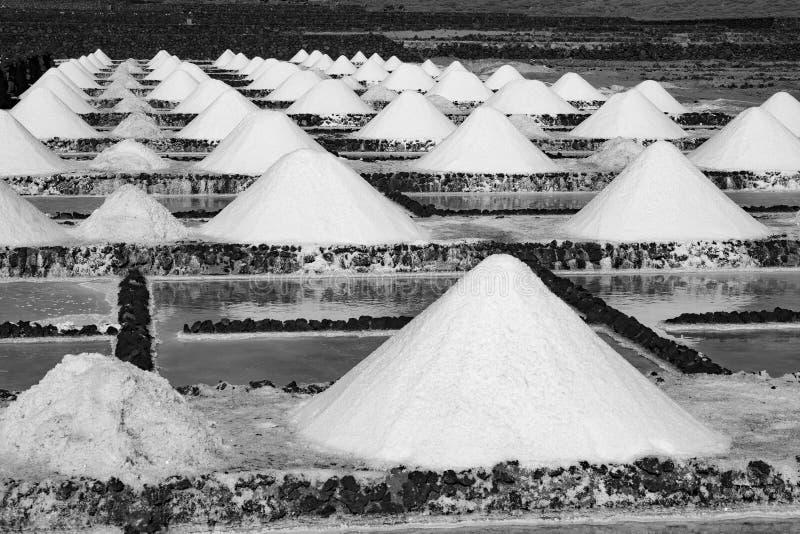 Salt piles on a saline exploration stock photography