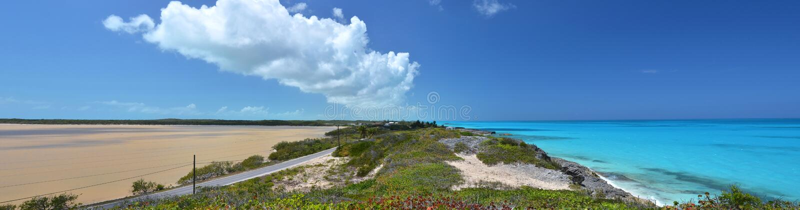 Salt pond. Exuma, Bahamas. Salt pond. Exuma island, Bahamas stock photo