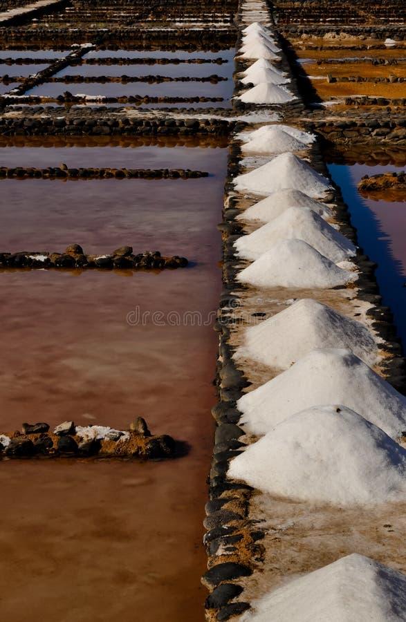 Salt produktion för hav arkivbilder