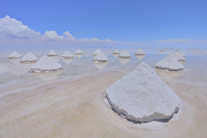 Salt pyramids stock image
