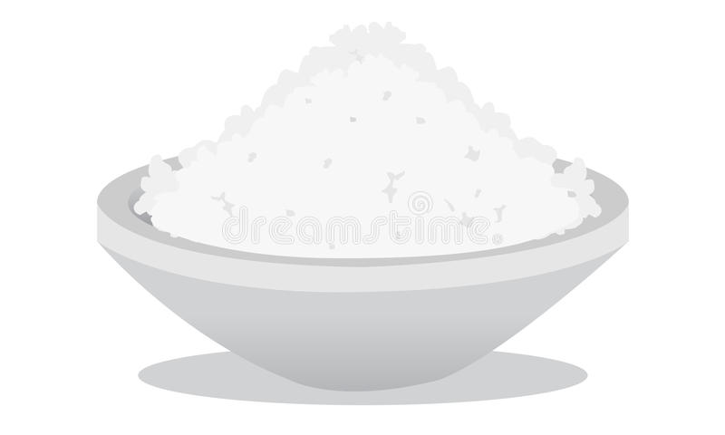 Salt and rice royalty free stock photo
