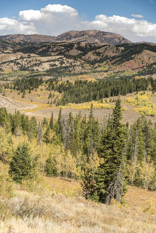 Salt River Pass Lander Cut off Wyoming. Salt River Pass Lander Cutoff Wyoming. The `Lander Road` was the first section of the federally funded road through the royalty free stock photography