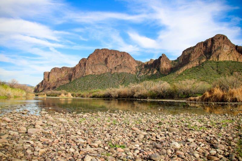 Salt River Rio Salado lizenzfreie stockbilder