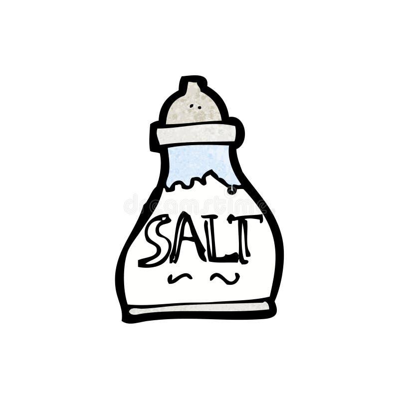 salt shaker för tecknad film vektor illustrationer