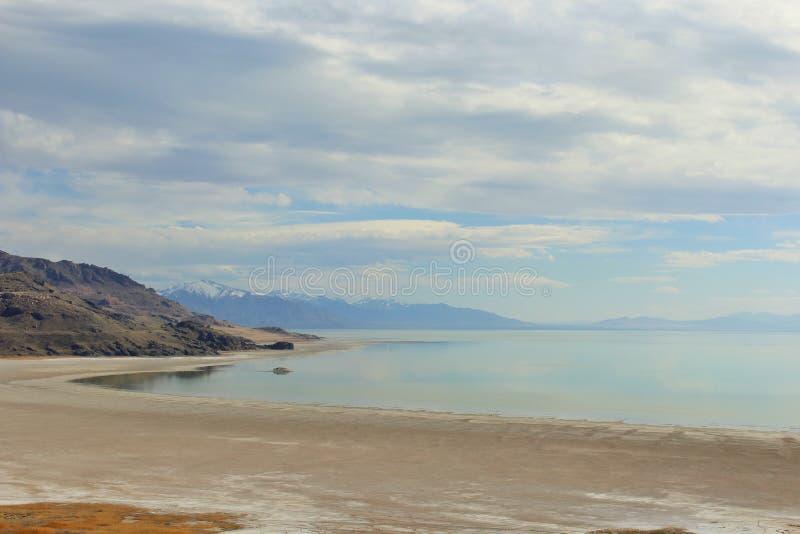 salt sjö från antilopön Layton UT royaltyfria foton