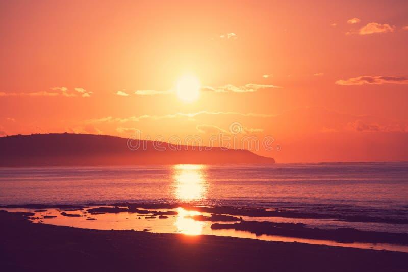 salt solnedgång för ayiastrandcyprus napa royaltyfri bild