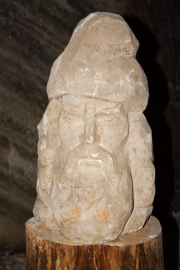 Salt statue representing Decebal stock photography