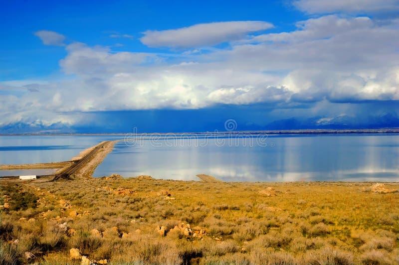 salt stor lake arkivfoton