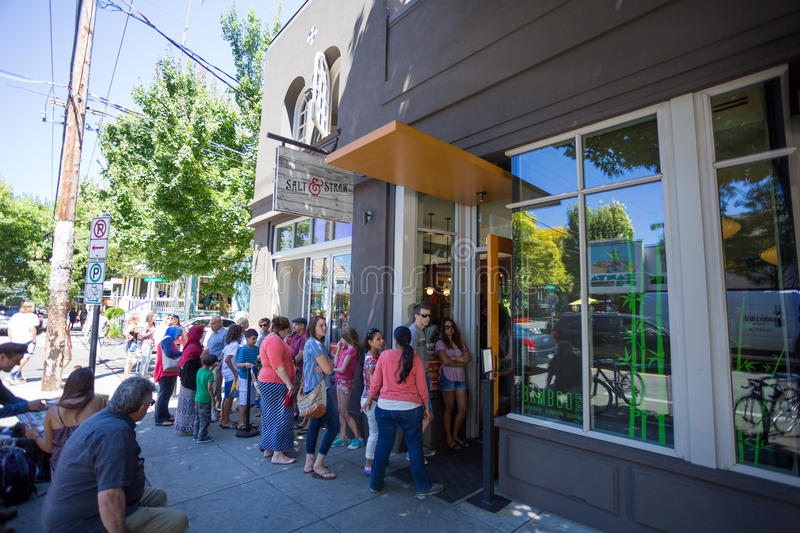 Salt and Straw Ice Cream Portland Oregon stock photos