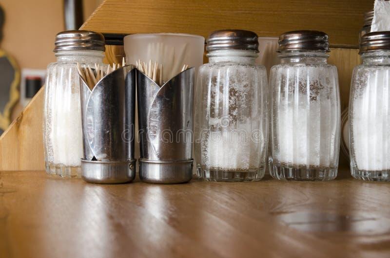 Salt and toothpicks