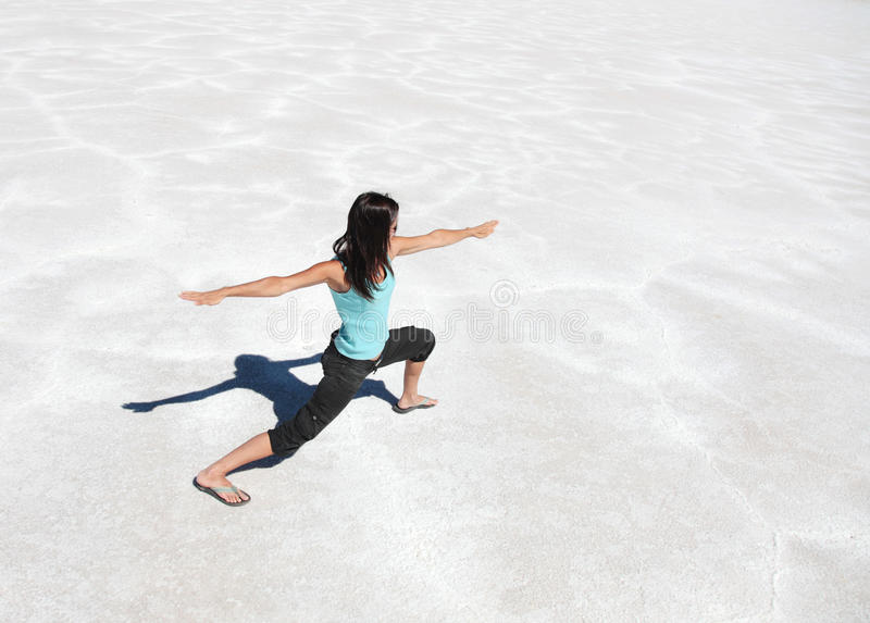 Naked Girl Sitting On A Salt Lake Stock Photo - Image Of Desert, Girl 16289944-7544