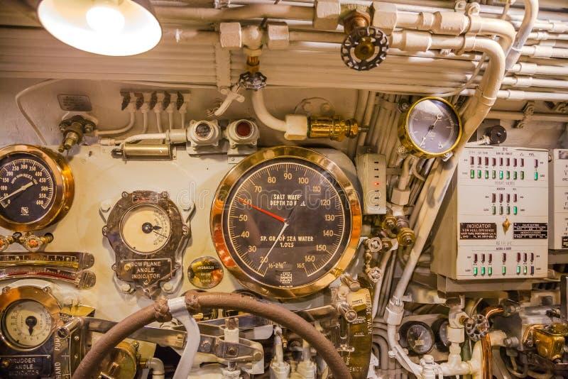 Salt water depth to keel stock images