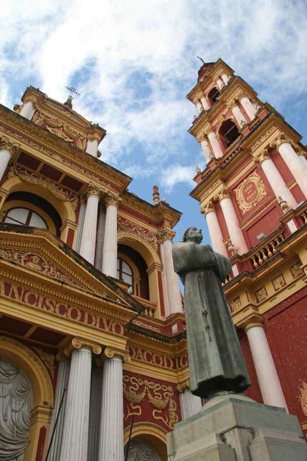 Salta. Franciscan Church in Salta, Argentina royalty free stock photography