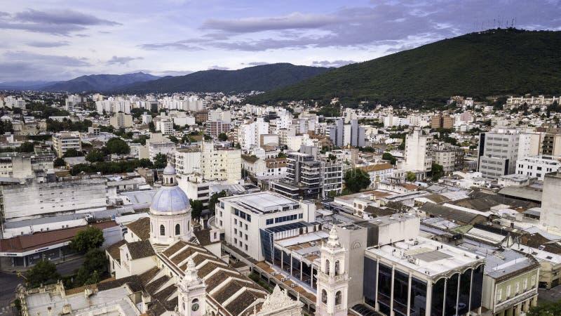 Salta/Salta/Argentina - 01 01 19: Arcidiocesi del Salta Cattedrale decorata del diciannovesimo secolo l'argentina fotografia stock