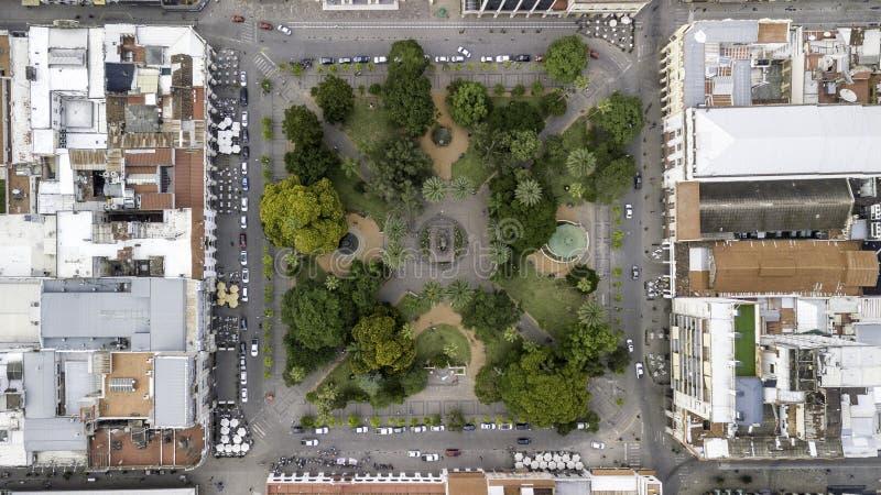 Salta/Salta/Argentina - 01 01 19. Piazza del 9 luglio Parco statale Salta Argentina immagini stock libere da diritti