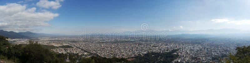 Salta city, Argentina. Panoramic view of the city of Salta from Cerro San Bernardo stock photography