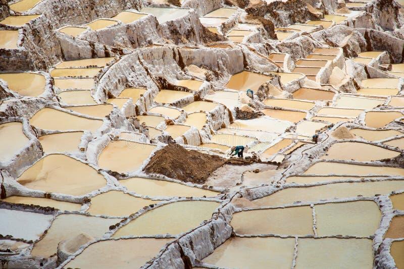 Salta fältet i Cuzco nära den sakrala dalen, Peru royaltyfria foton