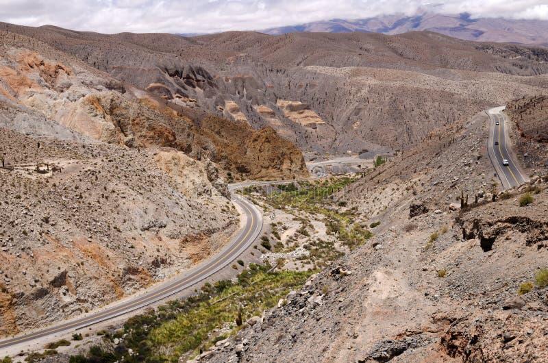 Salta la Argentina de la ruta 51 foto de archivo libre de regalías