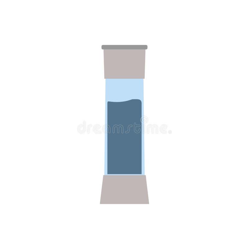 Salta shakeranstrykningkokkonst som mineraliskt kryddigt saltar molarvektorn Illustration f?r Kitchenwarematsymbol royaltyfri illustrationer
