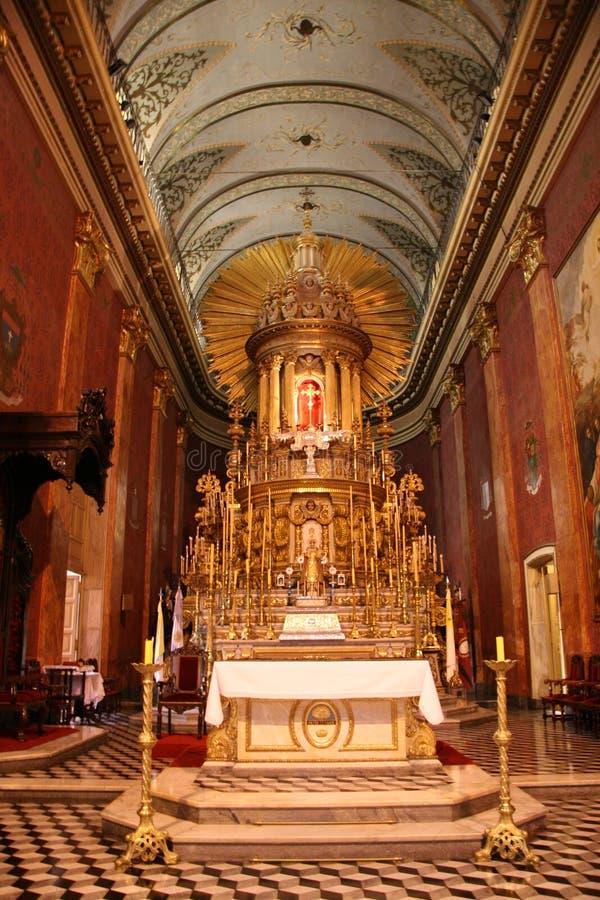 Salta shrine. Shrine in the cathedral of Salta, northwest Argentina royalty free stock photo
