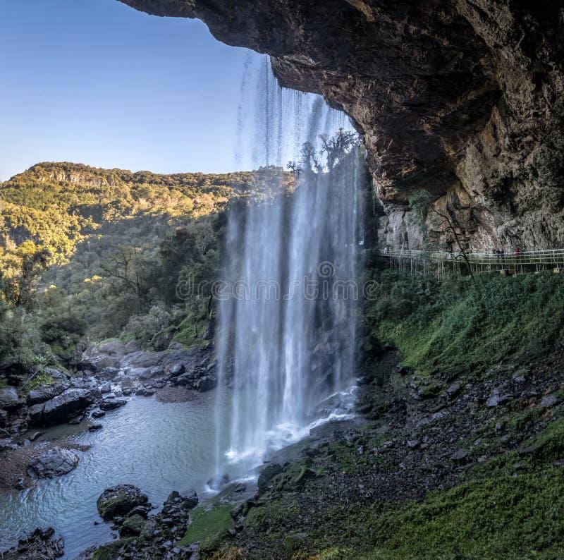 Salta Ventoso siklawa - Farroupilha, rio grande robi Sul, Brazylia obraz royalty free