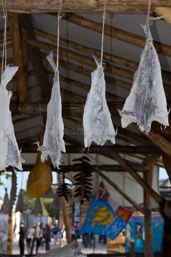 saltade dryingfiskar royaltyfria bilder