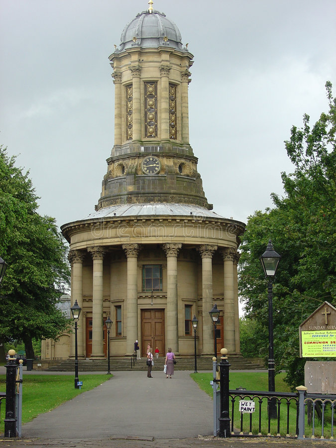Saltaire Church. In England royalty free stock photos