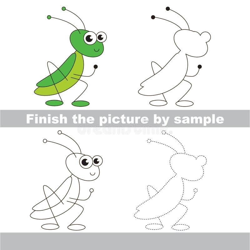 saltamontes Hoja de trabajo del dibujo ilustración del vector