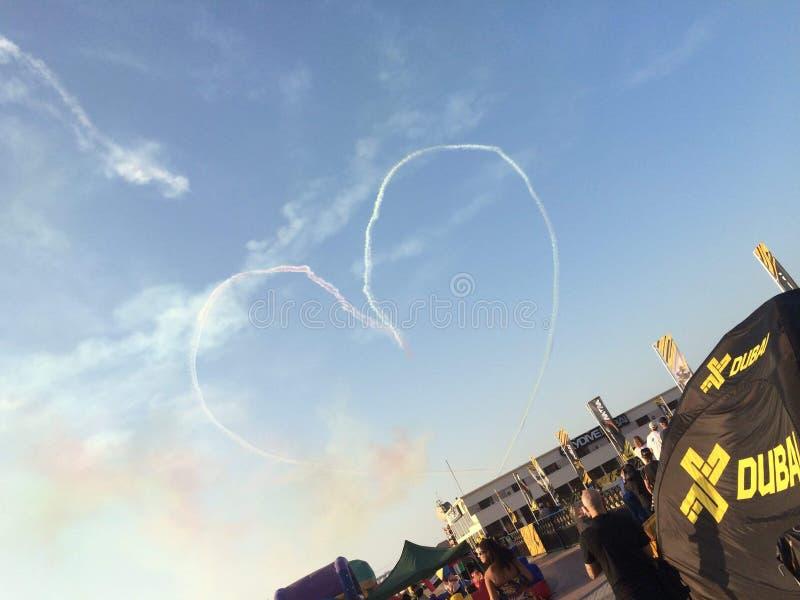Saltar em queda livre Dubai foto de stock royalty free