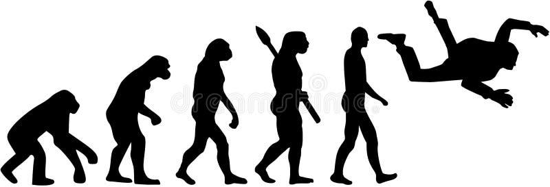 Saltar en caída libre la evolución libre illustration