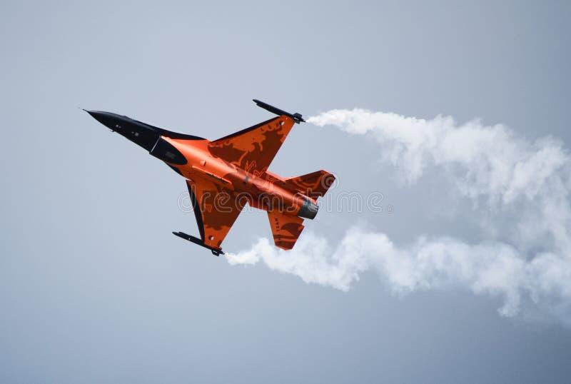 Saltatore del F16 Oange immagini stock
