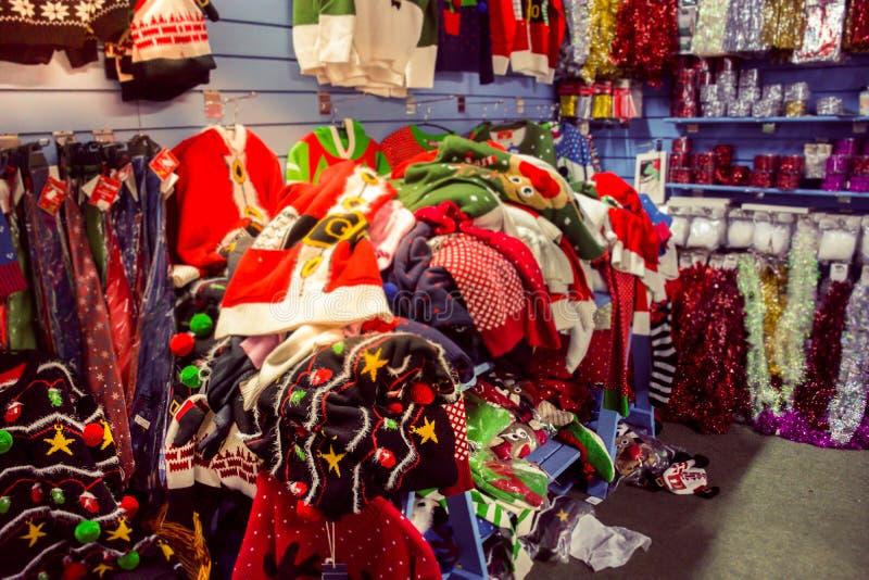 Saltatori di Natale sulla vendita immagine stock libera da diritti