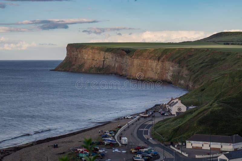 Saltburn峭壁 位于英国的北部东海岸 免版税库存图片