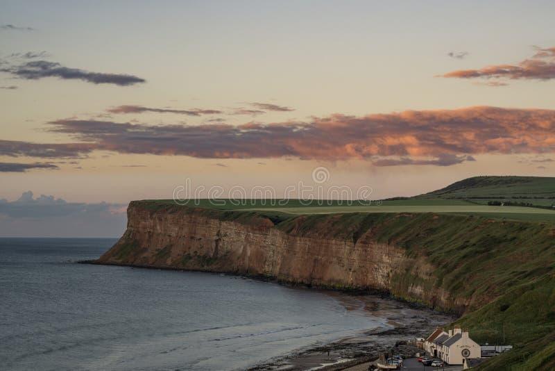 Saltburn峭壁 位于英国的北部东海岸 库存图片