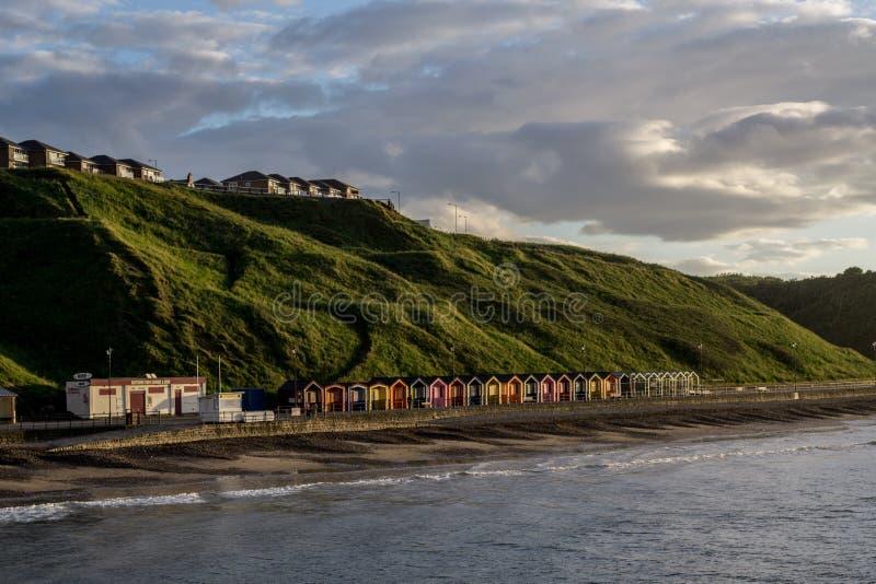 Saltburn 位于英国的北部东海岸 免版税库存照片