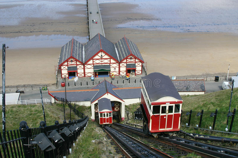 Download Saltburn cliff lifts. stock image. Image of lifts, victorian - 12368305