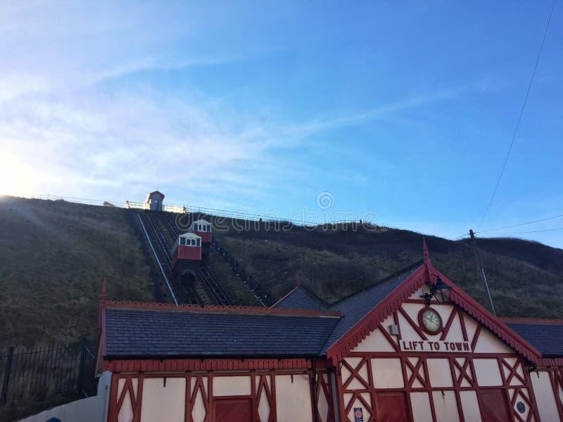 Saltburn Lift to Town stock photo