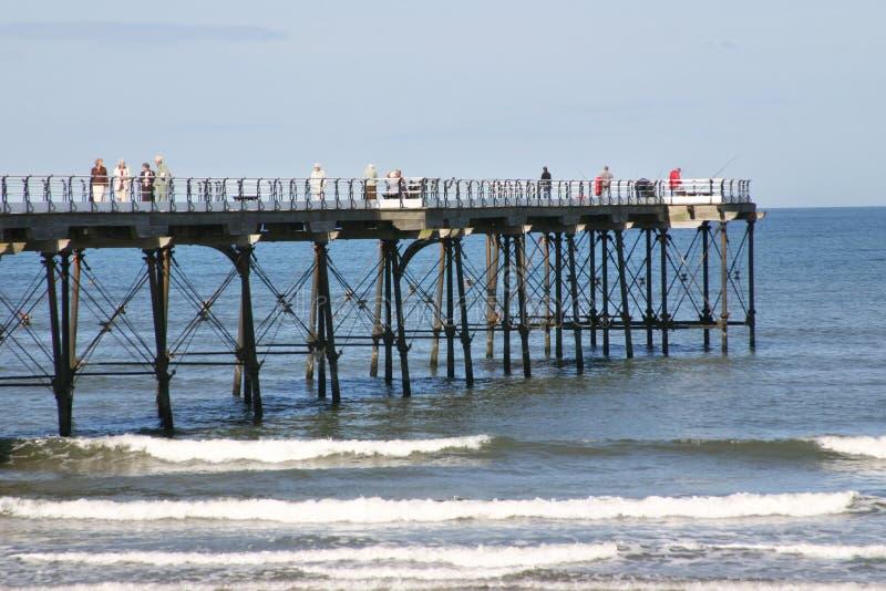 Saltburn Pier Royalty Free Stock Photography