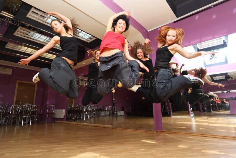 Salte a colectividade da dança foto de stock
