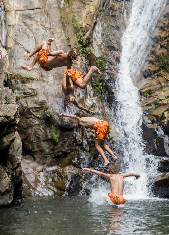 Salte na cachoeira imagens de stock royalty free