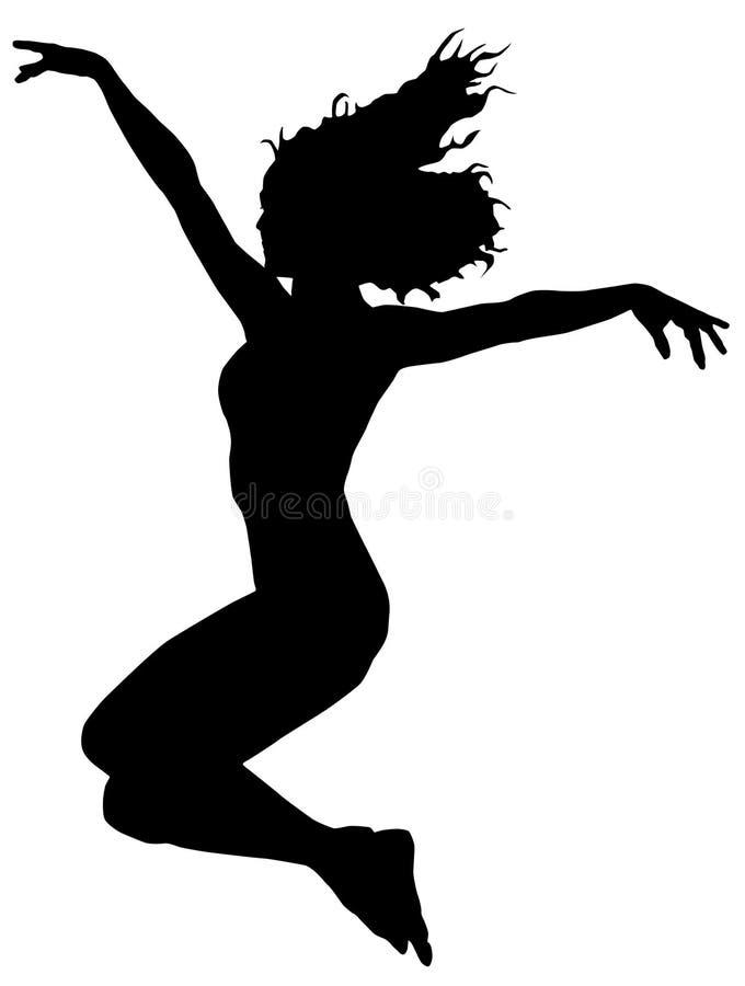Salte o dançarino ilustração do vetor