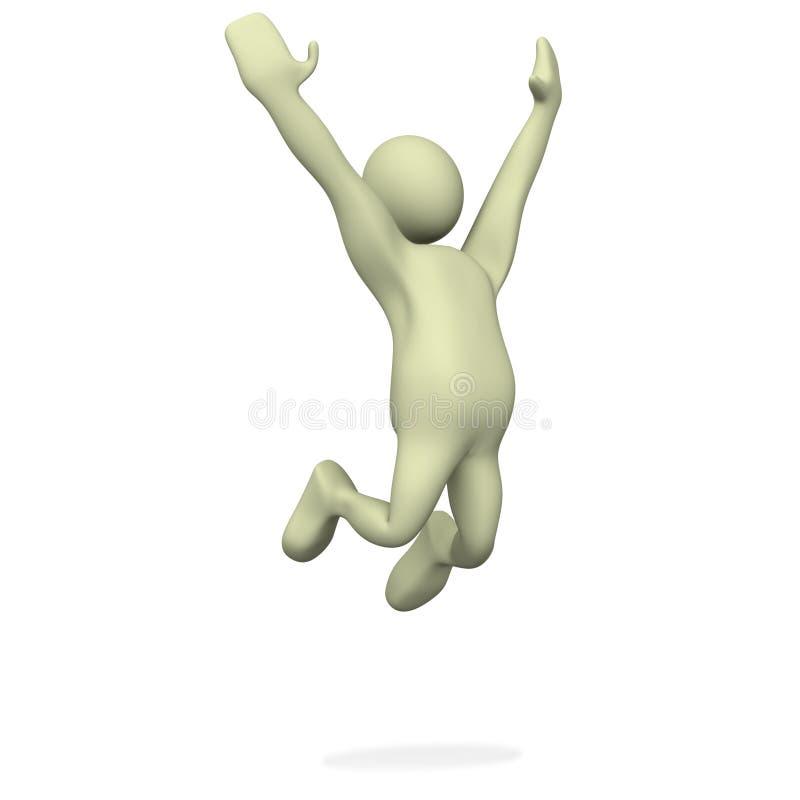 Salte para a alegria ilustração do vetor