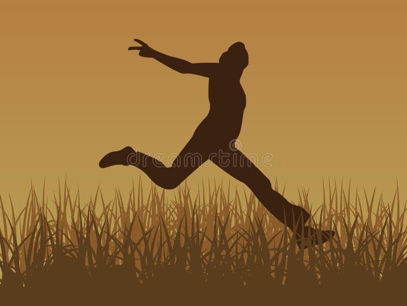 Salte para el vector de la alegría ilustración del vector