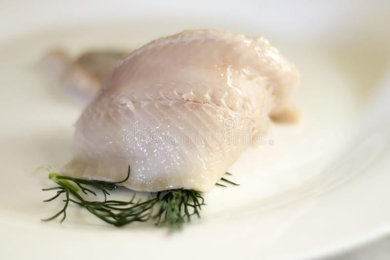 Salted herring rollmops royalty free stock image