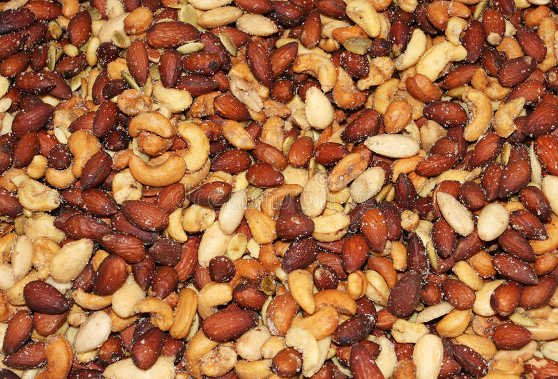 Download Salted peanuts background stock image. Image of piled - 18276619